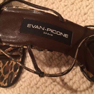 Evan Picone Shoes - Evan-Picone Leopard 🐆 Strappy Heels